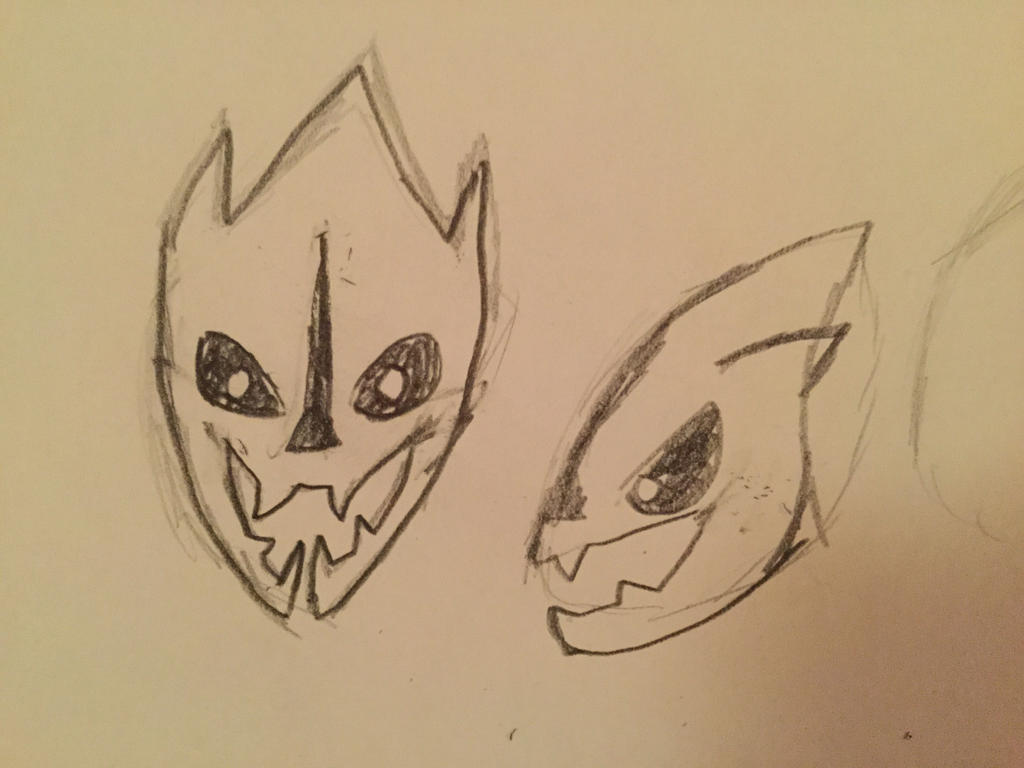 It is a photo of Inventive Gaster Blaster Drawing