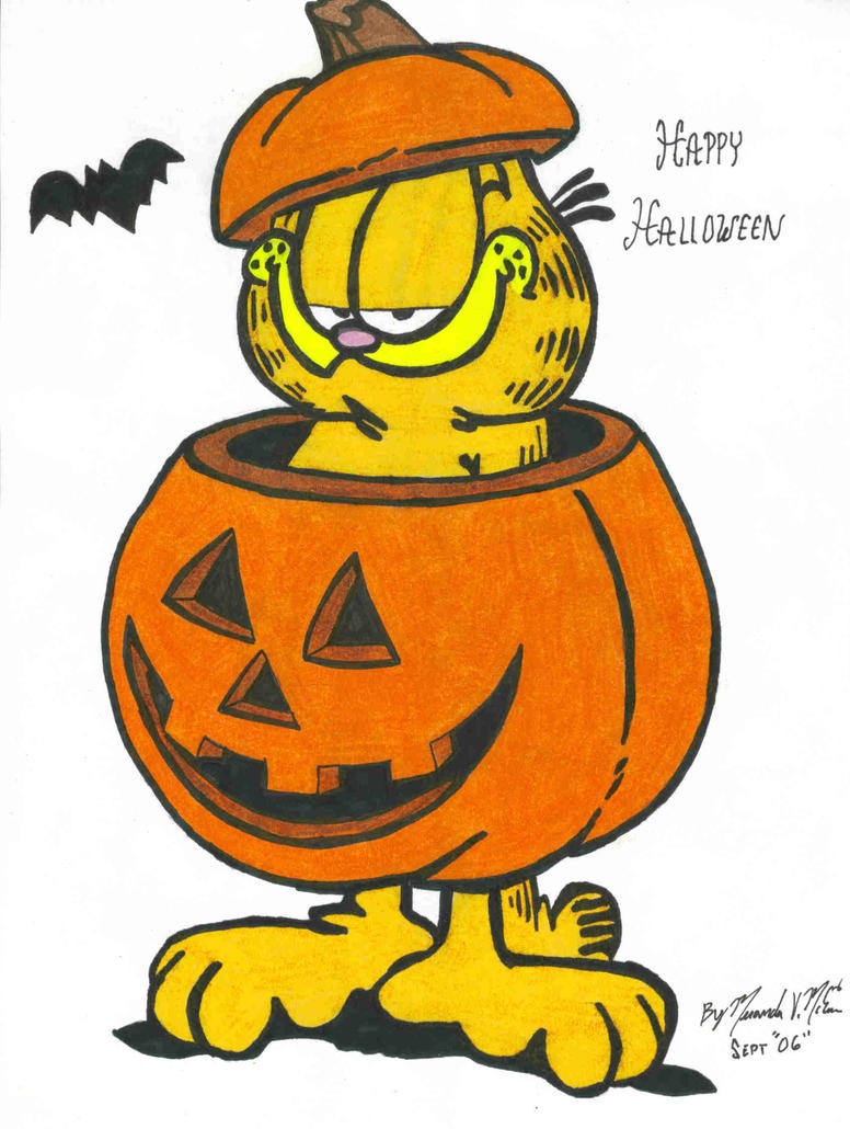 Garfield Halloween by Bakura-lover on DeviantArt