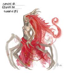 Spider Queen Concept Art by Vestele