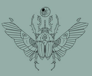 Scarab tattoo concept