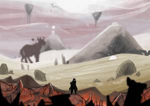 Metroidvania game concept moodboard