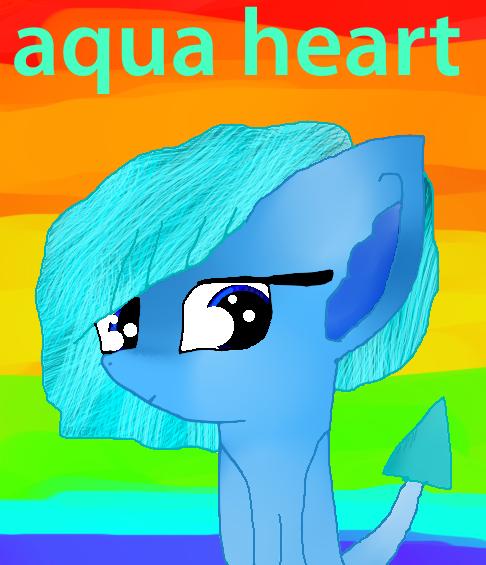 Aquaheart The Dragon-pony by theshadowpony357