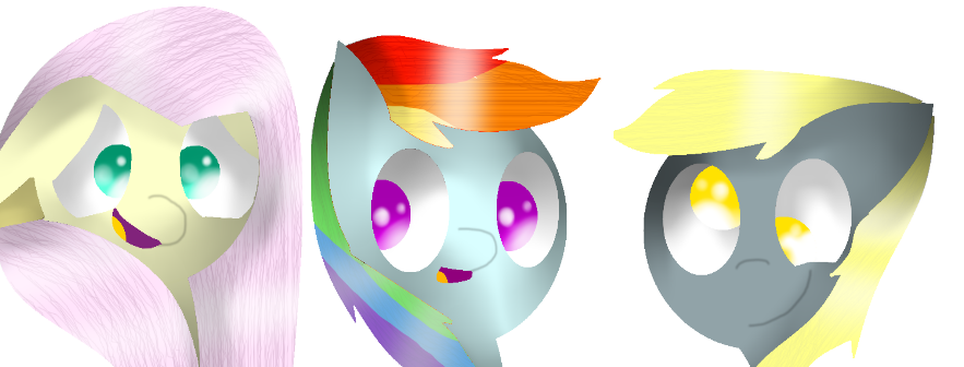 Derpy Rainbow And Fluttershy by theshadowpony357