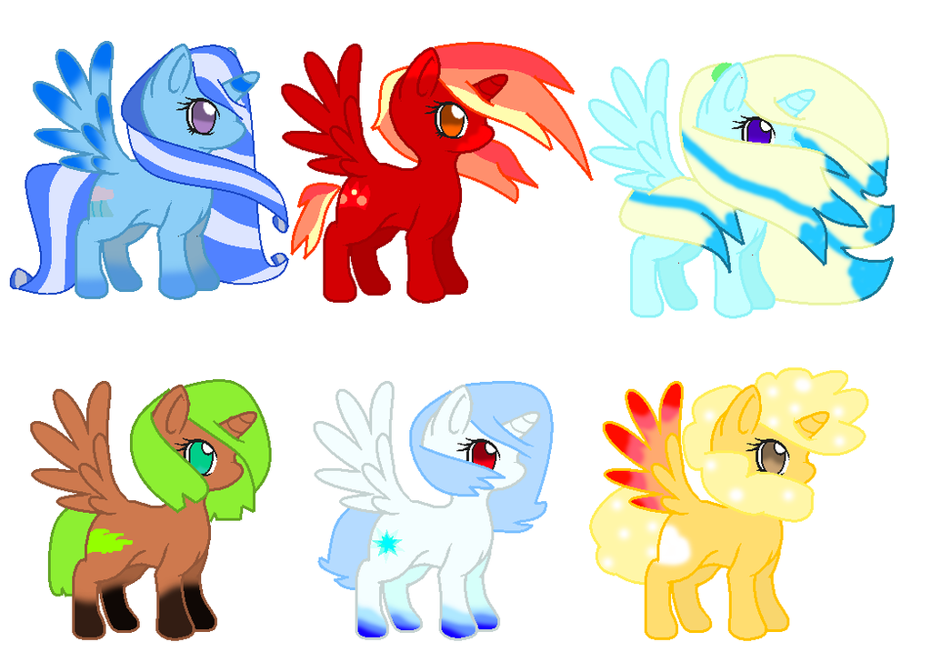 Element Ponies by theshadowpony357