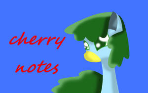 Cherry Notes Wallpaper by theshadowpony357