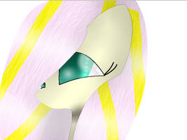Fluttershy with Flutters Hair by theshadowpony357