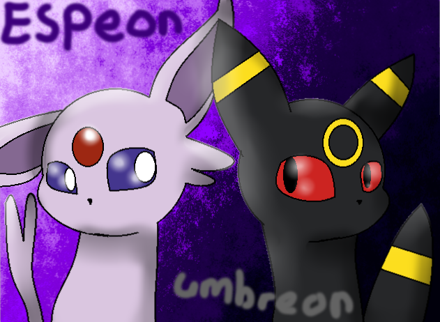 Espeon And Unbreon by theshadowpony357