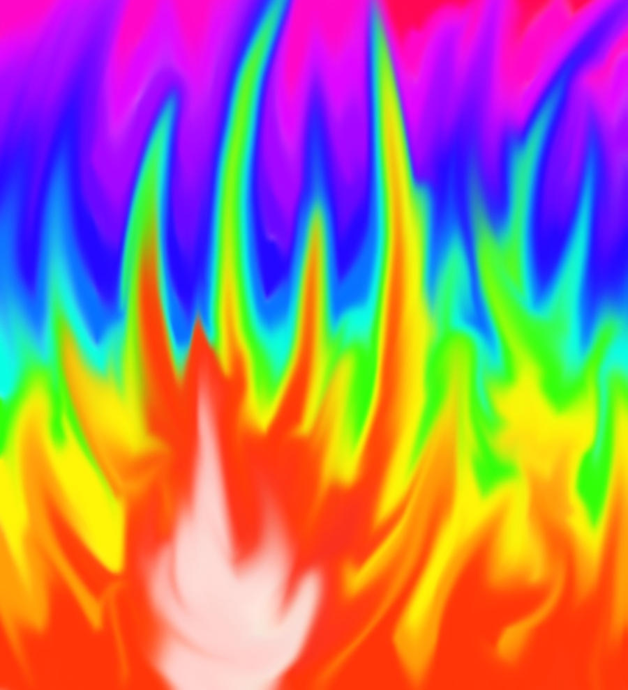 rainbow fire background - photo #13