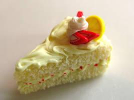Lemon Vanilla Cake Charm by SpadeZ-Ace