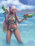 Swimsuit Archery Instructor by stallout