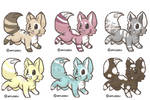 5 Point Pixel Fox Adopts! [1,3,5,6 OPEN!]