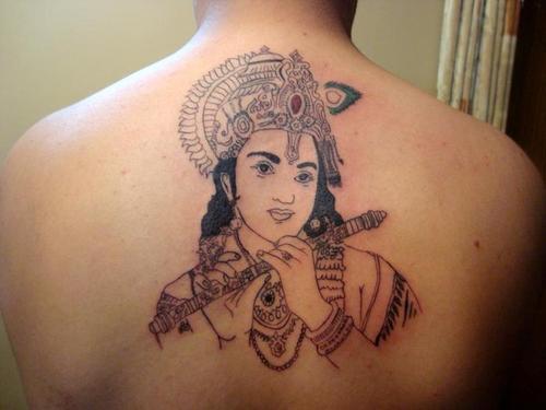 lord krishna tattoo by djniks07 on deviantart. Black Bedroom Furniture Sets. Home Design Ideas