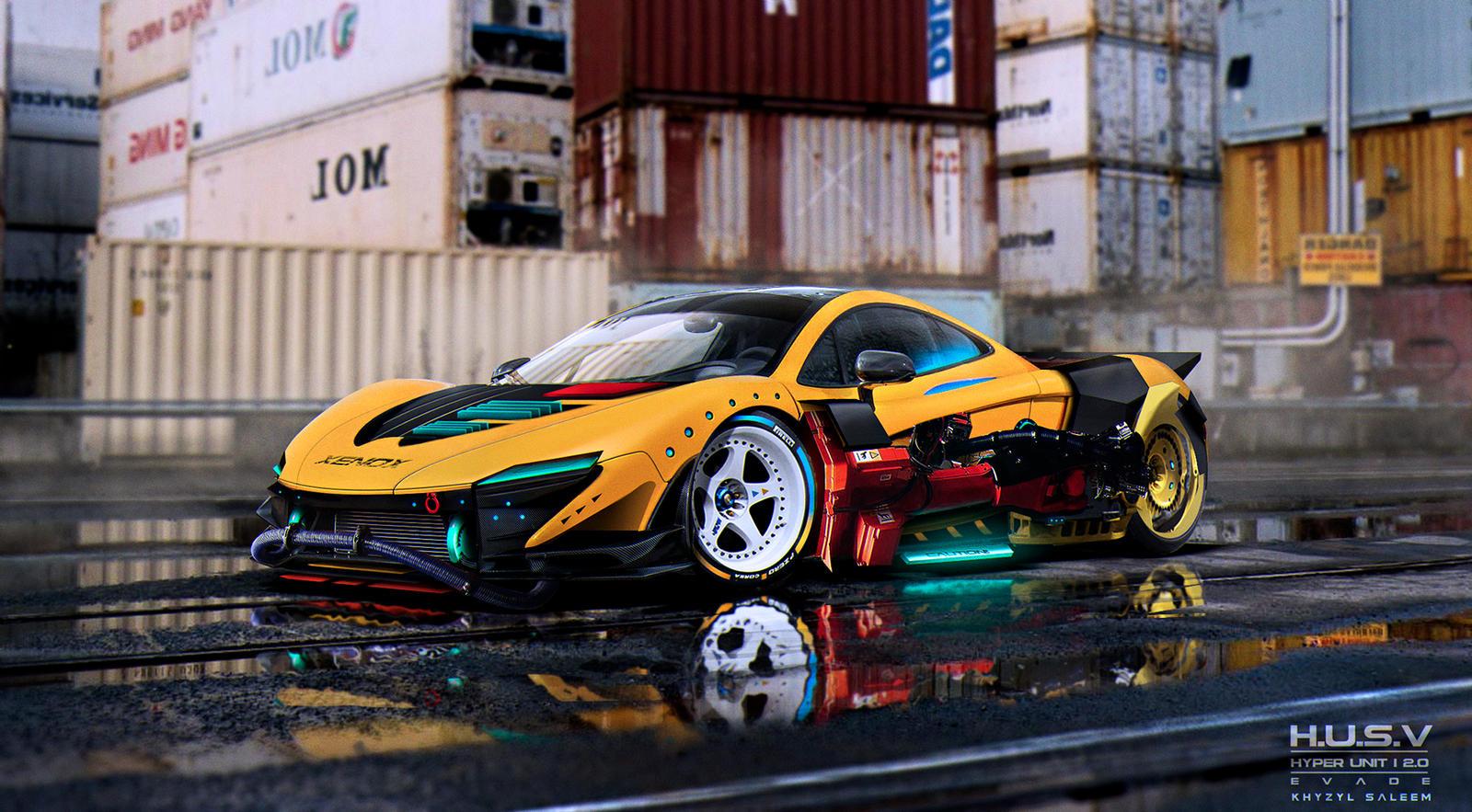 McLaren P1 | H.U.S.V | EVADE Mockup by The--Kyza