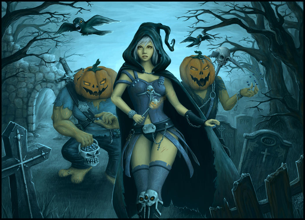 halloween by noname face