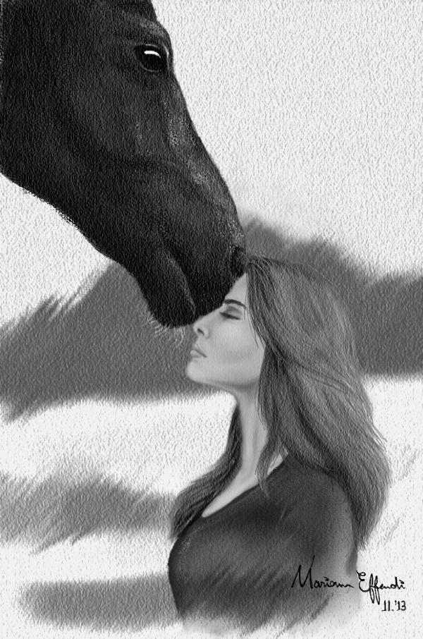 Horse Kiss By Mirioom On Deviantart