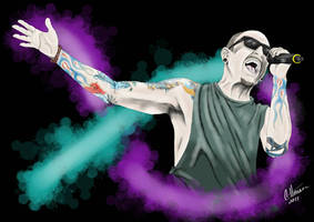 Tribute to Chester Bennington  by Ebony-Night