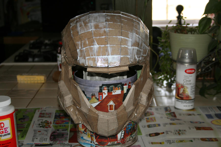 How To Make A Paper Mache Samurai Helmet