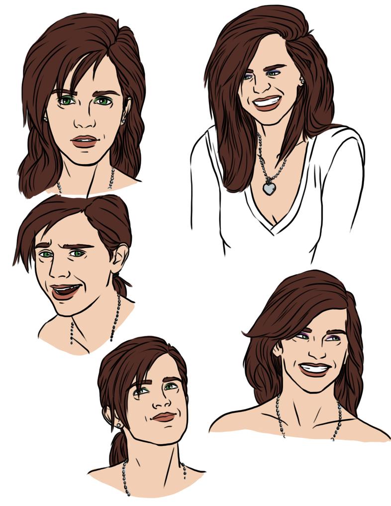 Profile Practice Anna 003 by Izaak94