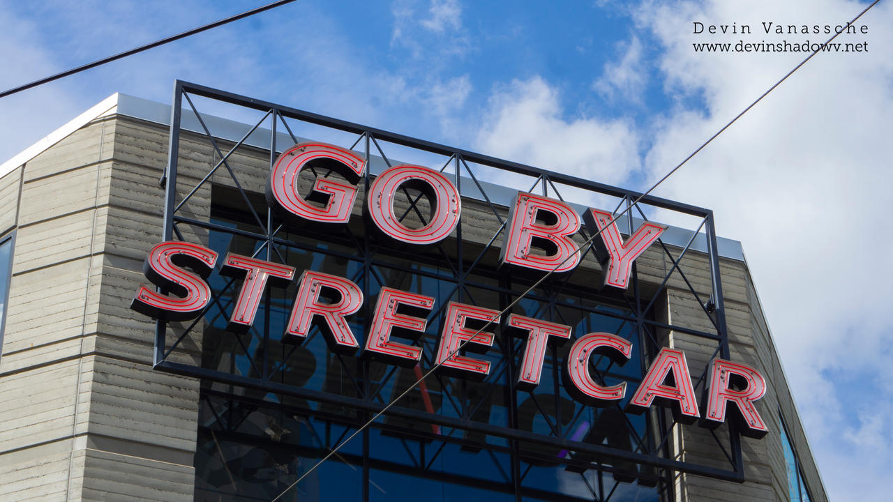 GO BY STREETCAR sign by DevinShadowV