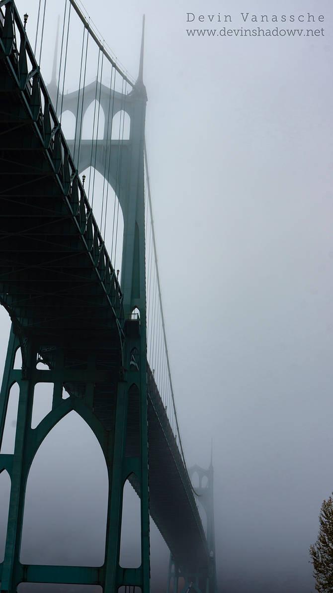 St. John foggy bridge