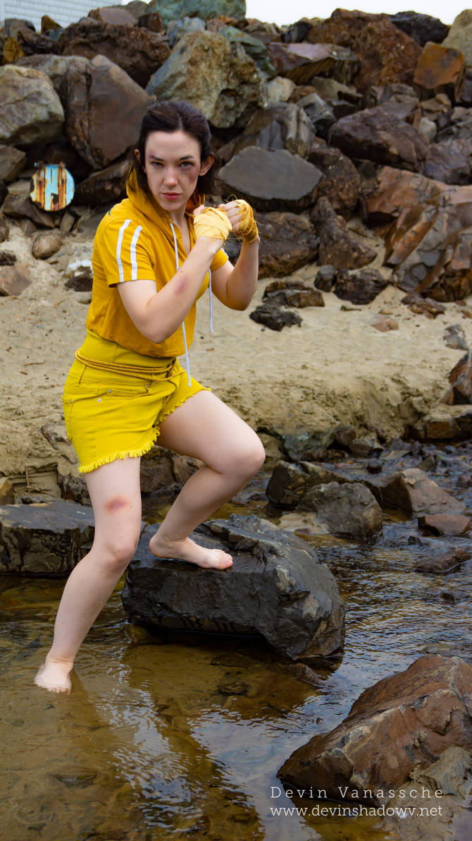 Belle/Street fighter crossover cosplay