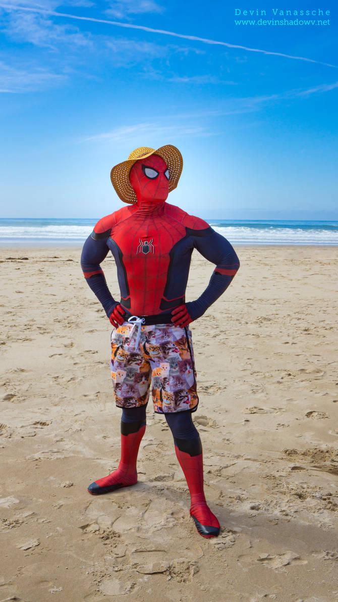Beach Spider Man