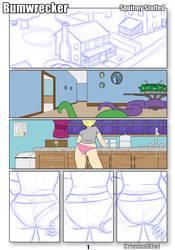 Comic page sketch 2 by CriminalKiwi