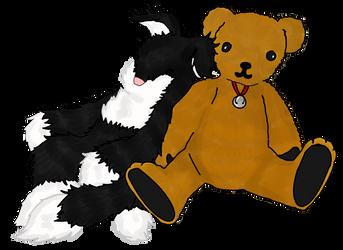 Cat and Bear for MrSecretary by Crossing-Dreamer