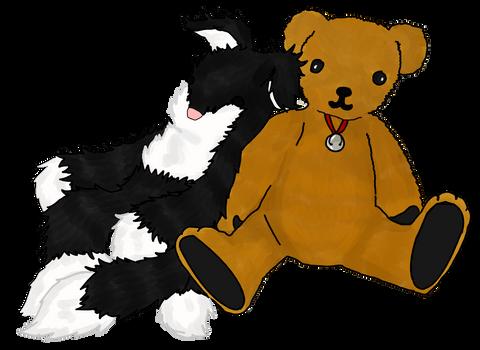 Cat and Bear for MrSecretary