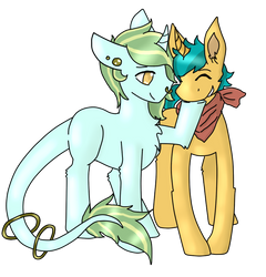 Art Trade #10 with Crazydoodleman144 by Crossing-Dreamer