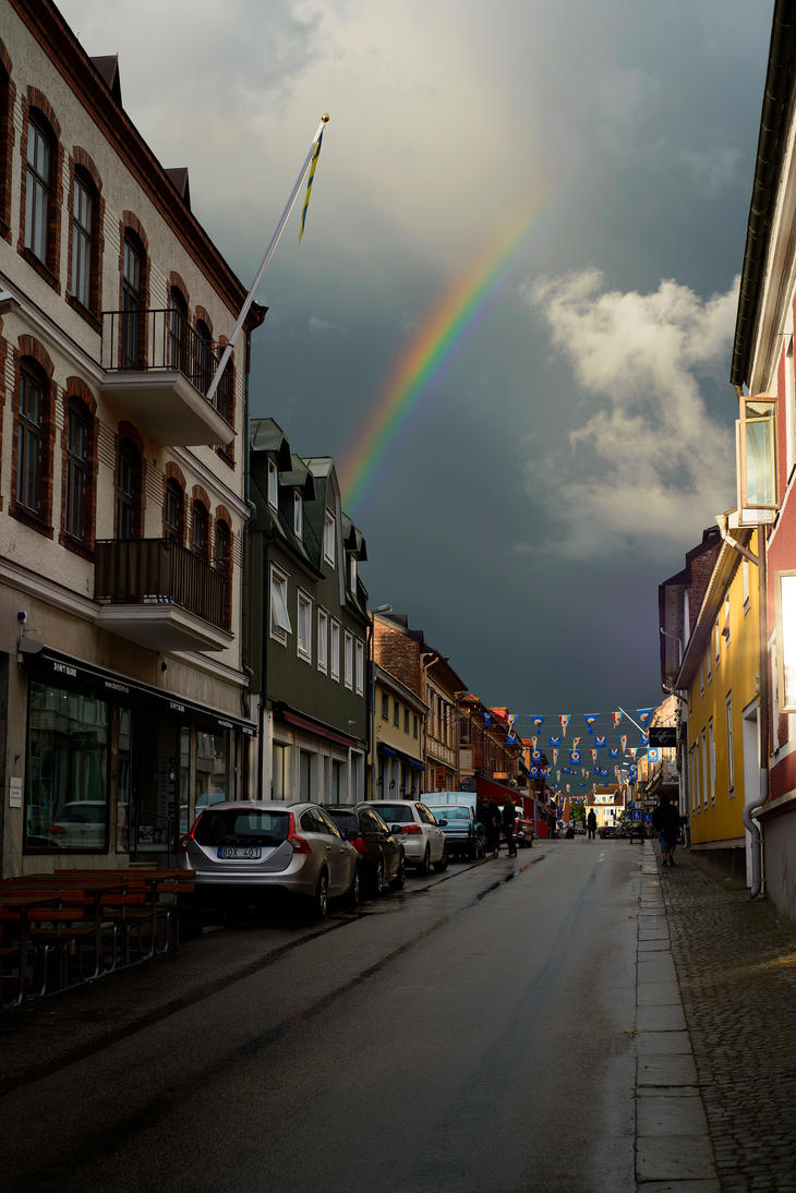 Shortly after the rain, Varberg Sweden by BlueTramper