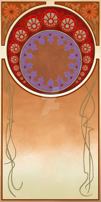 Art Nouveau Frame Design by ArtbroSean