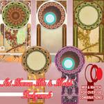 Art Nouveau Mix and Match Backgrounds