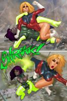 Superheroine Streetfight part 1 by ArtbroSean