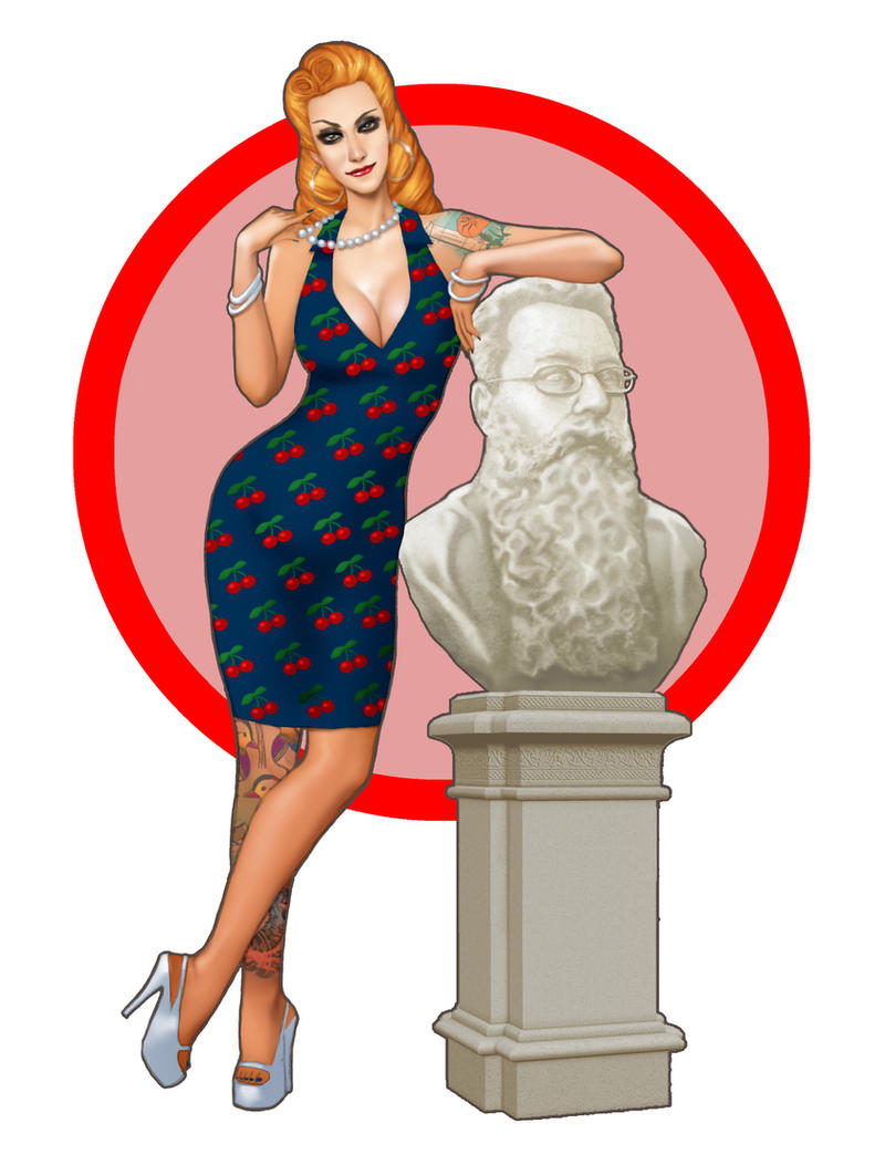 Lisa Contemplating the Bust of Boyack by ArtbroSean