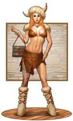 Lisa the Fashionable Barbarian by ArtbroSean