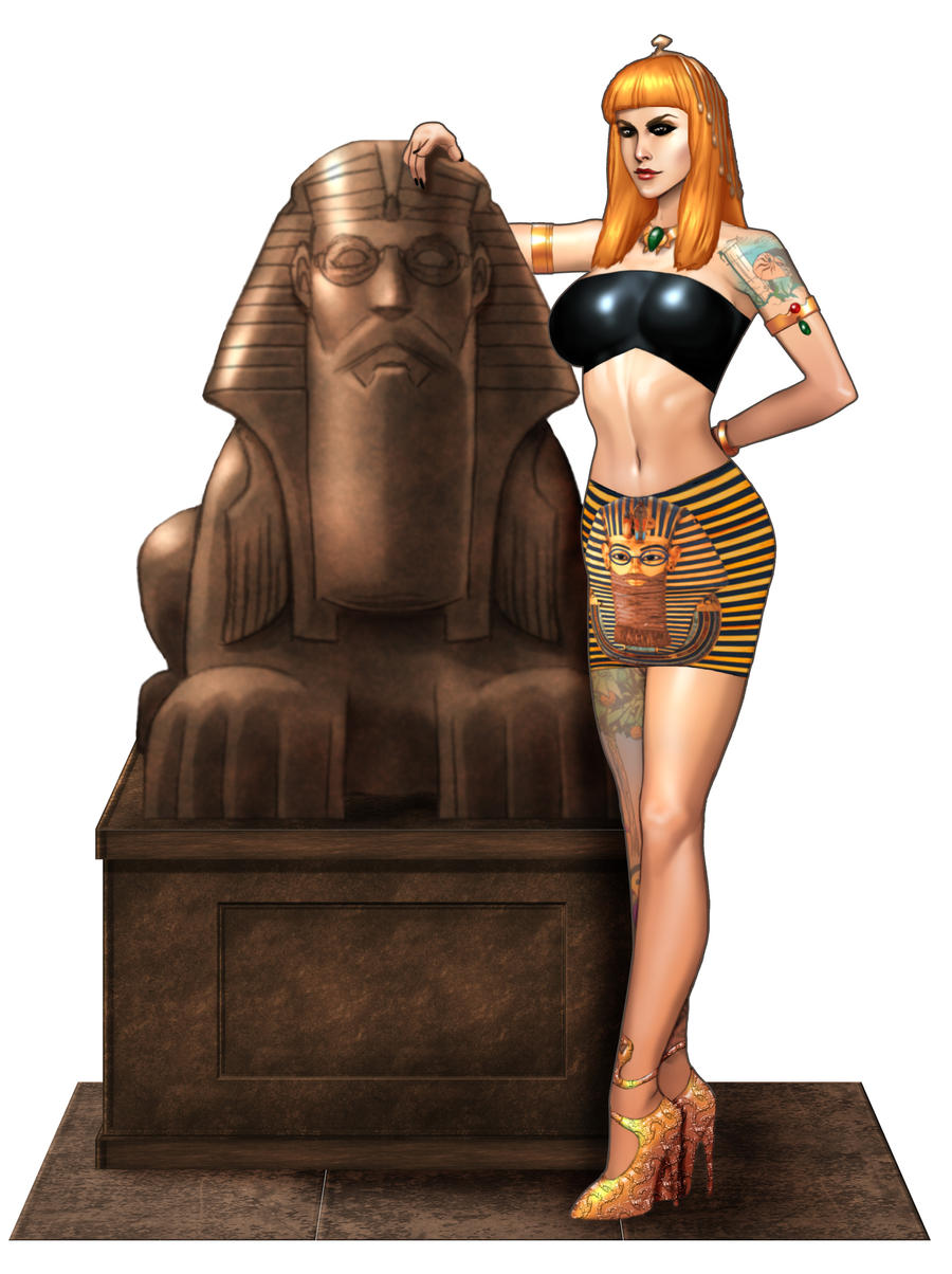 Lisa Walks like an Egyptian