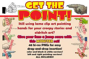 Monster Pointing Hands Clip Art Set