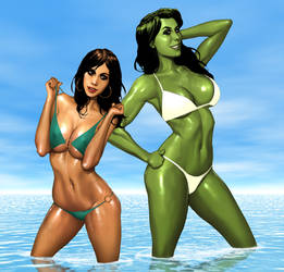 Lana goes Spying with.... She Hulk?? by ArtbroSean