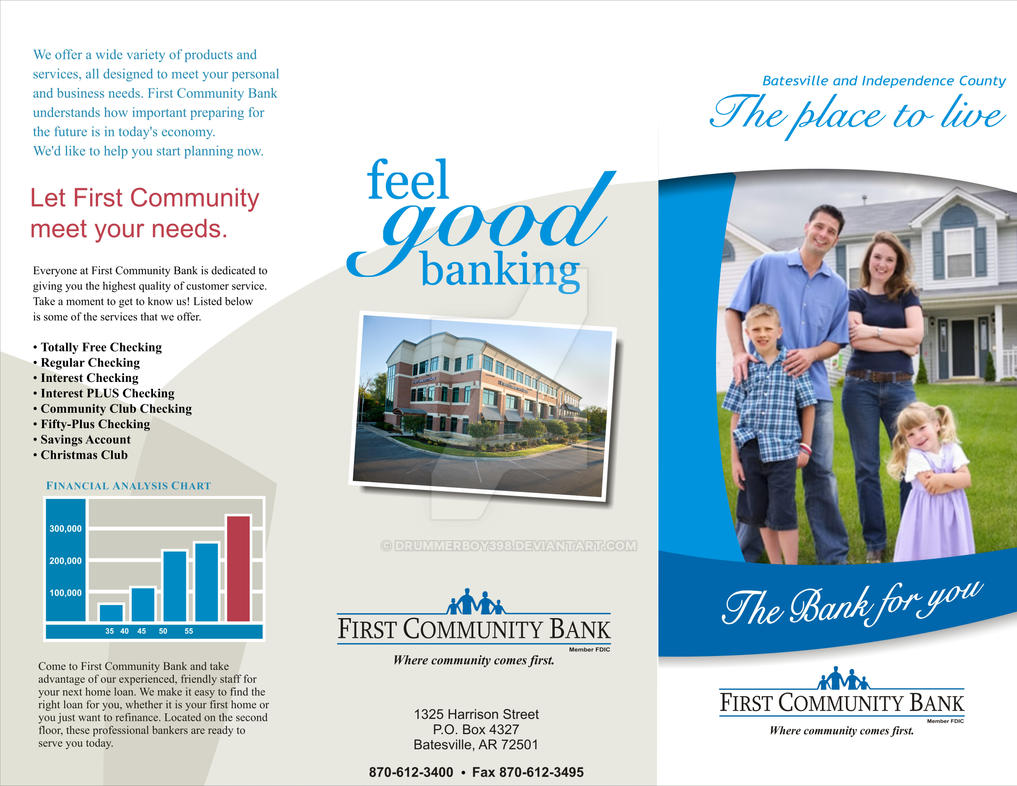 Brochure First Community Bank by drummerboy398 on DeviantArt