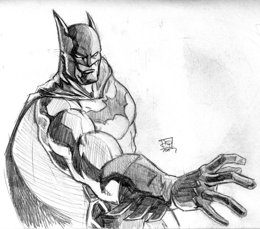 Batman Pencil Sketch by Kenpudiosaki on DeviantArt Batman Drawing In Pencil Easy
