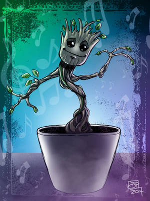 Baby Groot Color Sketch by Kenpudiosaki