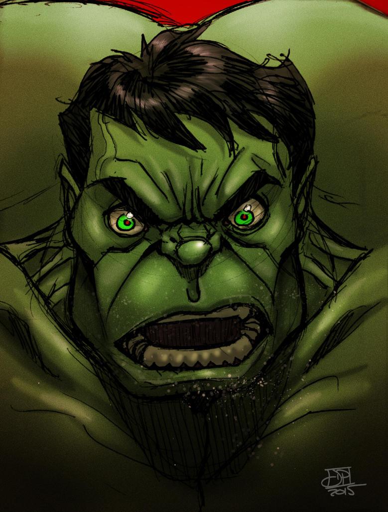 Hulk Color Scribble by Kenpudiosaki