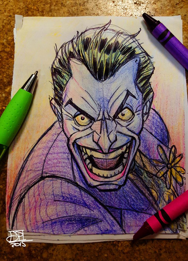 Crayon Joker by Kenpudiosaki