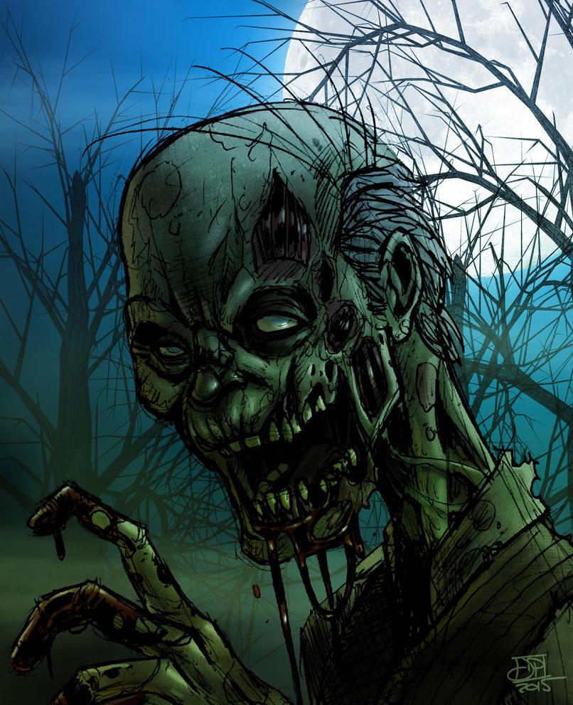 Zombie Color Sketch by Kenpudiosaki