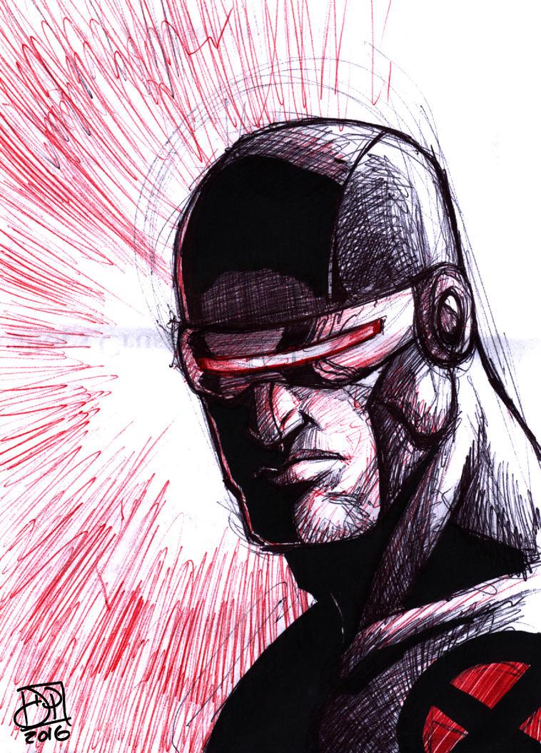 Cyclops Color Pen Doodle by Kenpudiosaki