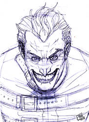 Joker Pen Scribble by Kenpudiosaki