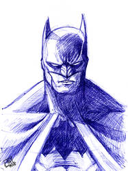 Batman Scribble Quickie by Kenpudiosaki