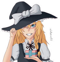 Marisa with gift by winterwolf38