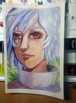 Momiji - Watercolor by winterwolf38